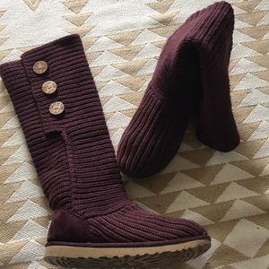 Ugg maroon sweater boots